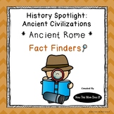 Ancient Rome History Unit - Fact Finding Notebook Pages