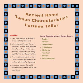 Ancient Rome Human Characteristics Fortune Teller