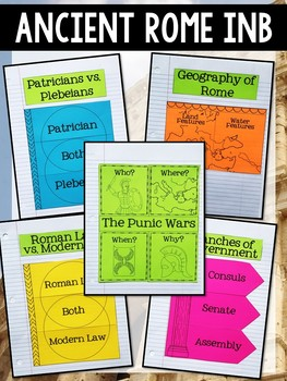 Ancient Rome Interactive Notebook Graphic Organizers