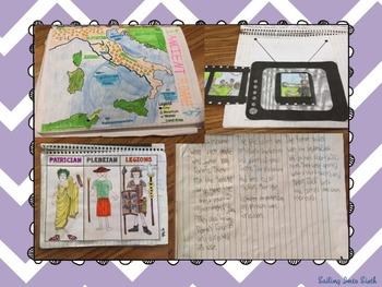 Ancient Rome - Interactive Notebook - Bundle