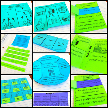 Ancient Rome Social Studies Interactive Notebook