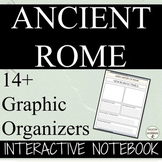 Ancient Rome Interactive Notebook Graphic Organizers and Notes