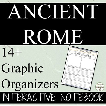 Ancient Rome Interactive Notebook Graphic Organizers for A