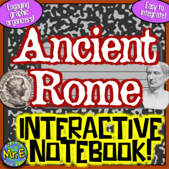 Ancient Rome Interactive Notebook: Roman Geography, Republic, Emperors, & Gods!