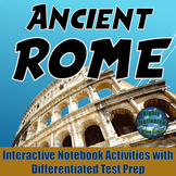 Ancient Rome Interactive Notebook Activities with Differentiated ELA Test Prep