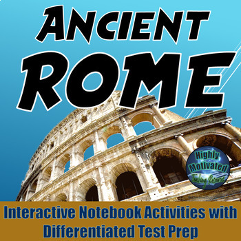 Ancient Rome Interactive Notebook Activities with Differen