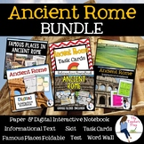 Ancient Rome Interactive Notebook, Task Cards, Foldable and Skit Bundle