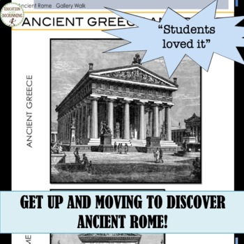 Introduction to Ancient Rome Gallery Walk Activity