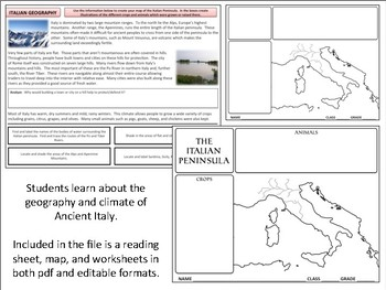 Ancient Rome - Italian Geography