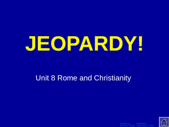 Ancient Rome Jeopardy Game
