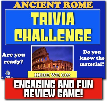 Ancient Rome Trivia Challenge Review! Play Jeopardy-like Game to Review Rome!