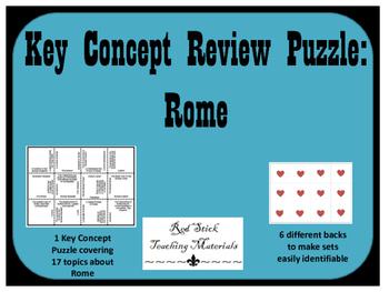 Ancient Rome Key Concepts Puzzle