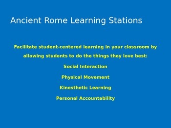 Ancient Rome Learning Stations