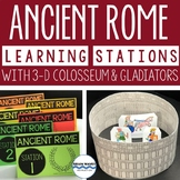 Ancient Rome Learning Stations 3-D Colosseum Gladiators Rome Activities