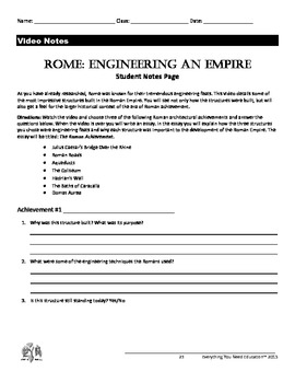 Ancient Rome Lesson: Engineering an Empire