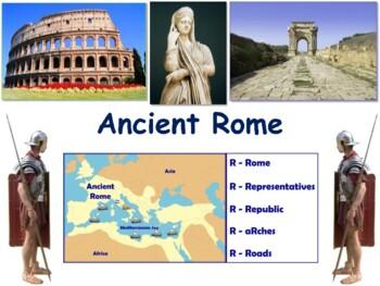 Ancient Rome Lesson - classroom unit, study guide, state e