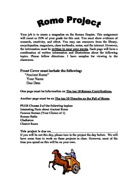 Ancient Rome Magazine Project
