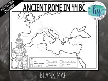 Ancient Rome to 44 BCE Map Activity