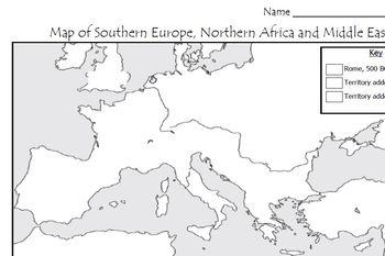 Ancient Rome - Map Activity by Mr C shop | Teachers Pay Teachers