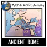 Ancient Rome Map Activity- Roman Empire (Label and Color!)
