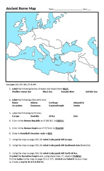 Ancient Rome Map Assignment