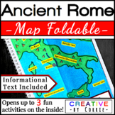 Ancient Rome Map Foldable with Reading Handout