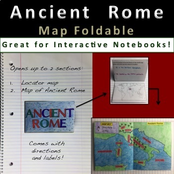 Ancient Rome Map Foldable for Interactive Notebooks