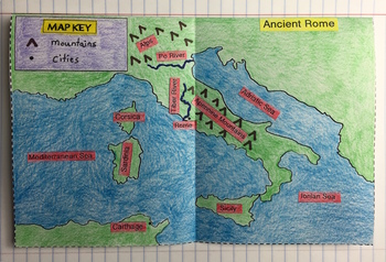 Ancient rome map foldable for interactive notebooks by created by corrie ancient rome map foldable for interactive notebooks gumiabroncs Image collections