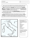 Ancient Rome Map and Reading
