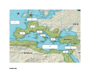 Ancient Rome Mapping activity