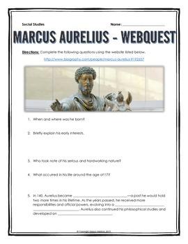 Ancient Rome - Marcus Aurelius - Webquest with Key