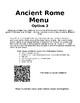 Ancient Rome Menu & Projects