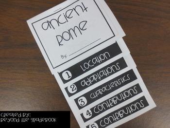 Ancient Rome Mini Flip Book