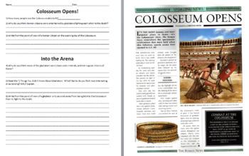 Ancient Rome Mini-Unit: Colosseum, Gladiators, Gods and Godesses, Myths, Pompeii