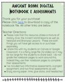 Ancient Rome Mini Unit: Digital Notebook, Assessments, Projects