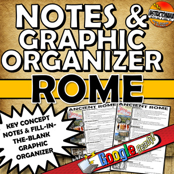 Ancient Rome Cloze Notes and Graphic Organzier