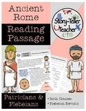 Ancient Rome Patricians and Plebeians Reading Passage