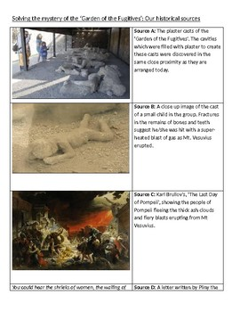 Ancient Rome - Pompeii and the Garden of Fugitives Mini-Essay
