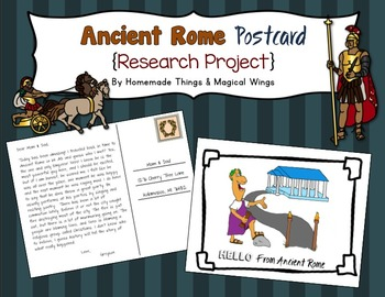 Ancient Rome: Postcard {Research Project}
