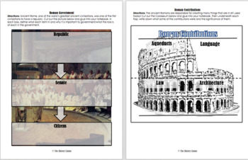Ancient Rome PowerPoint Bundle + Interactive Notebook
