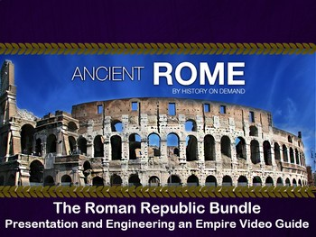 Ancient Rome - The Roman Republic Bundle: PowerPoint, Outline, Video Question