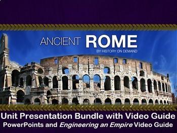 Ancient Rome Unit Bundle: PowerPoints, Outline, and Video Guides