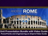 Ancient Rome Unit Bundle: 3 PowerPoints, Outlines, and Vid
