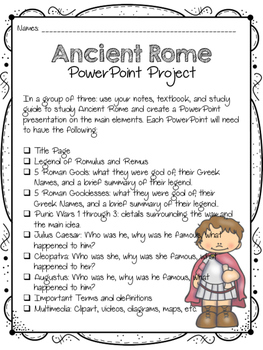 Ancient Rome PowerPoint Project for Core Knowledge SOCIAL