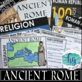 Ancient Rome PowerPoint and Guided Notes (Print and Digital)