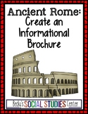 Ancient Rome Project: Create an Informational Brochure