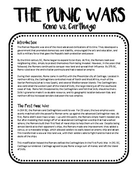 The Punic Wars Flipbook (Ancient Rome Lesson Plan)