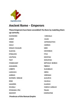Ancient Rome Puzzles