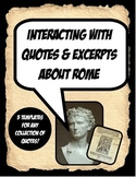 Ancient Rome Excerpts and Quote Activity Bundle Working wi
