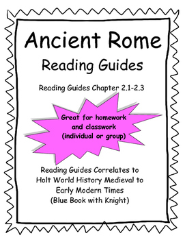 Ancient rome study guide teaching resources teachers pay teachers ancient rome reading guides for holt textbook fandeluxe Images